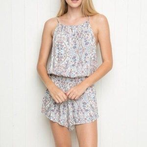 Brandy Melville Blanche White Floral Romper